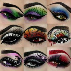 That is crazy makeup I would never wear it but it's cool:Ese es el maquillaje loco que nunca lo usaría , pero está bien