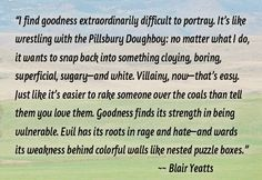 """C.L. Francisco/Blair Yeatts on the difficulty of portraying """"good"""" as opposed to evil"""