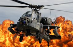 US Army Boeing AH-64 Apache attack/support helicopter.