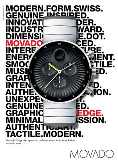 Movado Watch Advertising design by Yves Behar