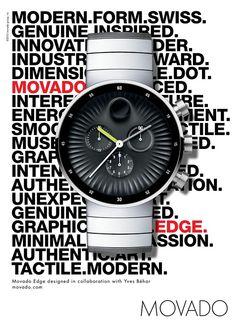 Movado Watch Advertising design by Yves Behar