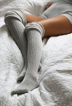 #fall #fashion / knee length socks