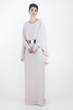 Cape Gown, Long sleeve evening gown, hijab fashion, hijab dresses, modest clothing