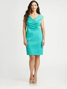 Kay Unger, Salon Z Shawl-Collar Dress  At sax fifth ave, great mother of the bride dress for summer event