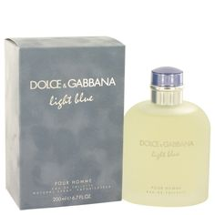 Light Blue Eau de Toilette 6.7 / 6.8 oz 200 ml  By DOLCE & GABBANA for MEN NIB #DOLCEGABBANA