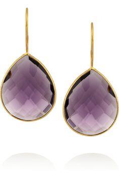 Chan Luu|Gold-plated amethyst earrings|NET-A-PORTER.COM