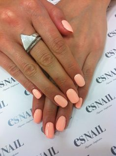 simple and elegant neutral nails slight peach color #NailArt www.findiforweddings.com
