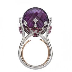 Sapphire, ruby, and diamond ring by Italian Design