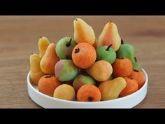 Make Marzipan Fruit | Marzipan Apples, Pears, Oranges - YouTube, this video is for educational purposes only