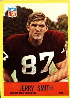 Image from http://myalltimefavorites.com/wp-content/uploads/2012/08/Jerry-Smith-1967-Philadelphia-189-Rookie-Card-Washington-Redskins-e1347668354878.jpg.