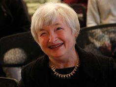 Janet Yellen (13 agosto 1946). Prima donna a capo della Fed (Banca Centrale degli Stati Uniti d'America), 2013.