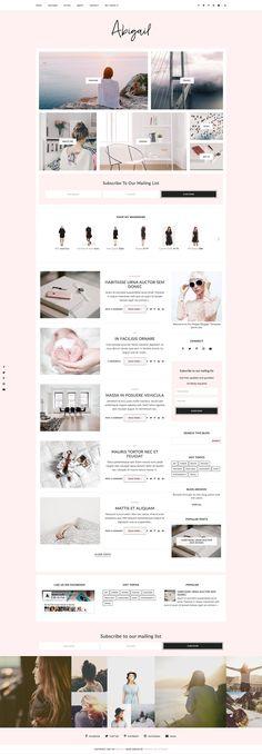 Blogger Template Responsive- Abigail by Georgia Lou Studios #ad
