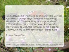 Ryszard Kapuściński o wartości zdziwienia