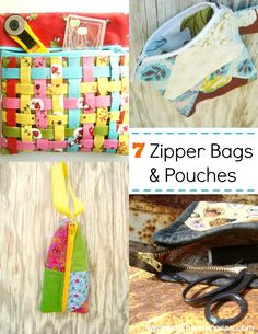 You'll find a large collection of zipper pouch and bag tutorials. Over 50!
