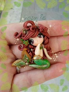 Genuine Porcelain China Made In Japan Polymer Clay Mermaid, Polymer Clay Fairy, Polymer Clay Figures, Cute Polymer Clay, Cute Clay, Polymer Clay Dolls, Polymer Clay Miniatures, Polymer Clay Projects, Polymer Clay Charms