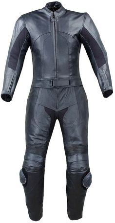 Womens 2pc 2 PC Motorcycle Leather Racing Suit Armor L | eBay