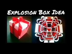 Hello everyone, here comes another DIY Idea for Valentine's Day. I hope you like this video, share it with your friends . Anniversary Surprise, Husband Anniversary, Anniversary Cards, Anniversary Ideas, Explosion Box Tutorial, Surprise Pictures, Anniversary Decorations, Scrapbook Albums, Scrapbooking