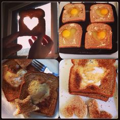 Egg in the hole. (Cut out any shape from a piece of bread. Butter both sides. Crack an egg into it while it's in a pan or on a griddle. Cook, flip, cook. Done. Syrup.)