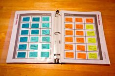 color coded meal planning system