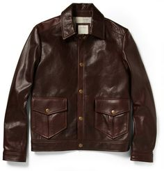Billy Reid Dunnavant Leather Jacket   MR PORTER