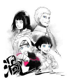 Naruto, Hinata, Himawari and Boruto Anime Naruto, Naruto Shippuden, Naruto Y Hinata, Naruhina, Itachi, Hinata Hyuga, Uzumaki Family, Naruto Family, Naruto Couples