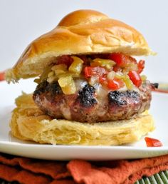 Taco Burgers with Green Chili Salsa | Tasty Kitchen: A Happy Recipe Community!