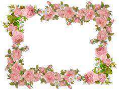 Free digital vintage rose frame and scrapbooking paper - Rosenrahmen - freebie   MeinLilaPark – digital freebies