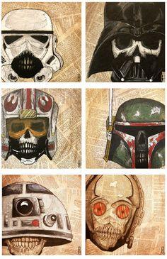 Holy shitballs-BADASS!!! Dead Star Wars Print Set of Three 3 by TheArtofJeffHulligan, $25.00