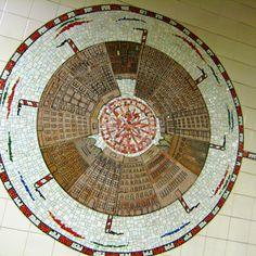 Peter Sis  Subway mosaic art  86th street NYC   Happy City