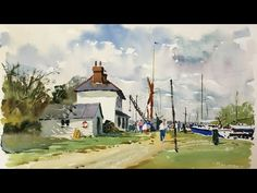 Watercolour Fundamentals - Guidance and Demonstration with Andrew Pitt - YouTube Watercolor Landscape Tutorial, Watercolor Art Lessons, Watercolor Video, Watercolour Tutorials, Watercolor Artwork, Watercolor Techniques, Watercolor Water, Painting Tutorials, Time Painting