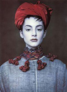Honor Fraser. Vogue UK, circa 1990's. Photographer: Paolo Roversi