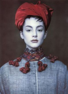 Honor Fraser. Vogue UK, circa 1990's. Photographer: Paolo Roversi