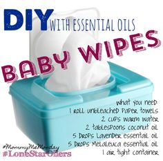 Easy toxin free DIY baby wipes!
