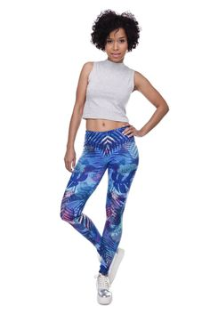 aabf0b3d8b343 Tropical Leaves Fitness Legging Sports Leggings, Cute Leggings, Printed  Leggings, Leggings Are Not