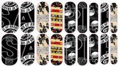 sons of anarchy nail design | Sons of Anarchy Nails Custom NAS Wraps- Jamberry www.nikkisteward ...
