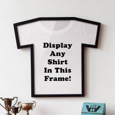 NEW Plastic T-Shirt Shaped Display Frame Prized Shirts Sports Jersey Holder