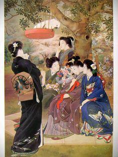 鏑木清方 嫁ぐ人 1907年