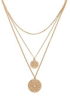 Layered Medallion Necklace | FOREVER 21 - 1000201953