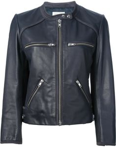Cropped Leather Jacket @Lyst