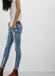 One Teaspoon FREEBIRD BLUE BLONDE | Aritzia