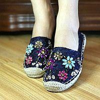 Эспадрильи* (Гипюр)-(Лен) *Летняя распродажа ,эспадрильи женские,женская обувь эспадрильи летние женские эспад