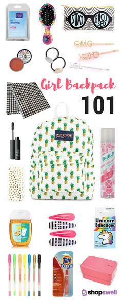 Being a girl is hard! That's why you need one (or ten!) of these backpack survival essentials to get you through the school day. Shop the collection now.