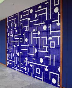 <p>detail -- painel de azulejos palácio itamaraty anexo I dgap 8º andar brasília arq oscar niemeyer</p> <p>photo edgard cesar</p>