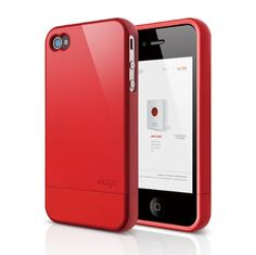 elago S4 Glide Case for AT, Sprint and Verizon iPhone 4/4S (Extream Hot Red) - eco-friendly packaging by elago, http://www.amazon.com/dp/B005VPR7GY/ref=cm_sw_r_pi_dp_7X7sqb1QFSDHS