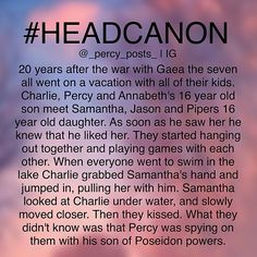 Aww!!! Percy is spying on his kid. Bad Percy.<<<<<<<<<<<<<<<Why does everybody name Percy's kid Charlie??