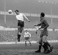 Jimmy Greaves. Spurs v West Bromwich Albion, 1966 at White Hart Lane.