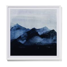 Misty Mountain Wall Art Blue Peaks