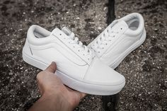 Vans overseas limited edition small white shoes all leather surface high quality retro shoes couple models 36 --- 44 [42949660] - $60.00 : Vans Shop, Vans Shop in California