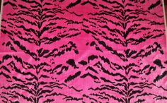 DESIGNER ITALIAN La Tigresa Tiger Scalamandre Style Tigre Applique Fabric, Pillow Fabric, Pink Panthers, Fabric Remnants, Carnations, Animal Print Rug, Velvet, This Or That Questions, Etsy