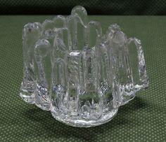 vintage kosta boda rock glass votive holder hand made glass candleholder design anna ehrner. Black Bedroom Furniture Sets. Home Design Ideas